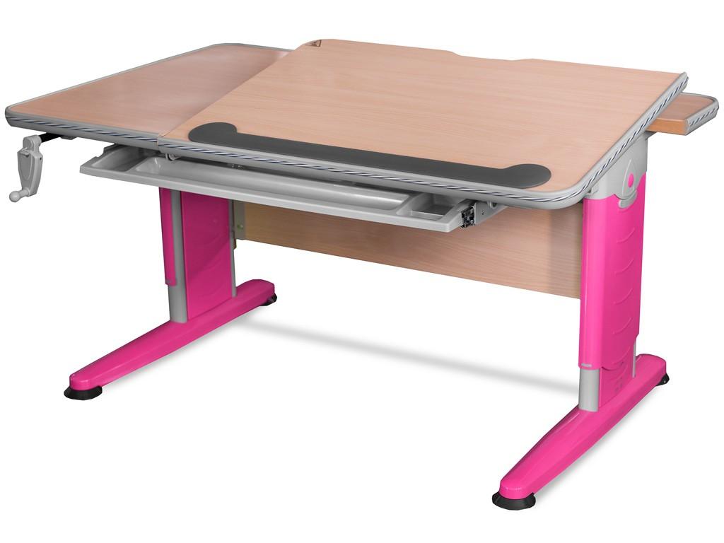 Детский стол Mealux Detroit Клен РозовыйСтолы и парты Mealux<br><br>Цвет материала: Клен; Цвет каркаса: Розовый; Бренд: Mealux; Ширина (см): 120; Глубина (см): 75; Высота (см): 56-83;