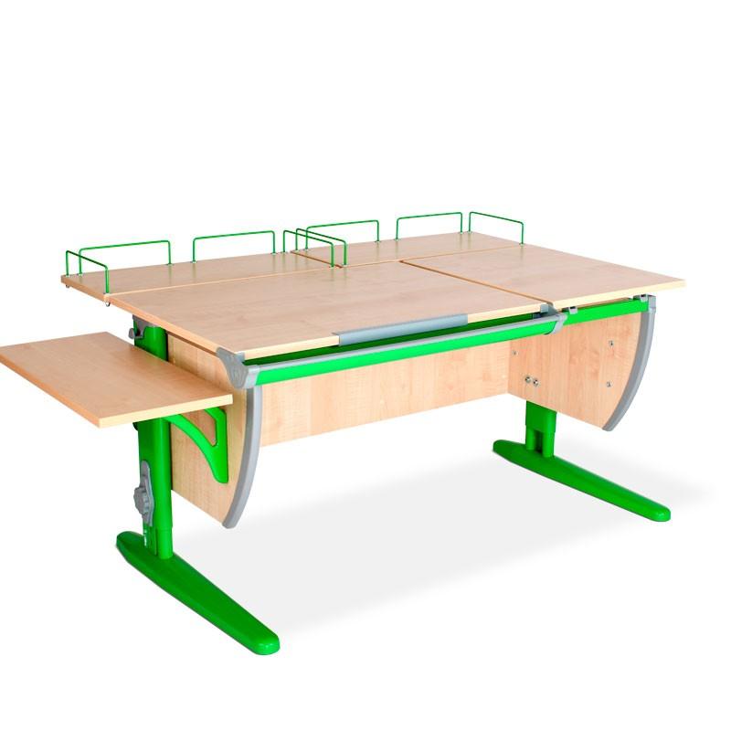 Парта Дэми СУТ-17-02 Клен ЗеленыйПарты и столы<br><br>Цвет материала: Клен; Цвет каркаса: Зеленый; Бренд: Дэми; Ширина (см): 145; Глубина (см): 80; Высота (см): 53-81,5;