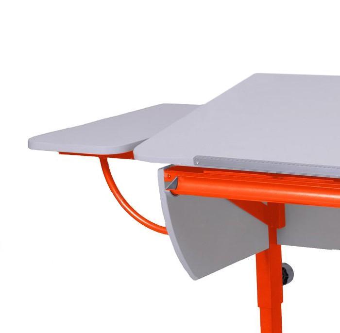 Полка боковая к партам Астек Белый ОранжевыйТумбы, стеллажи<br><br>Цвет материала: Белый; Цвет каркаса: Оранжевый; Бренд: Астек; Ширина (см): 25; Глубина (см): 58;