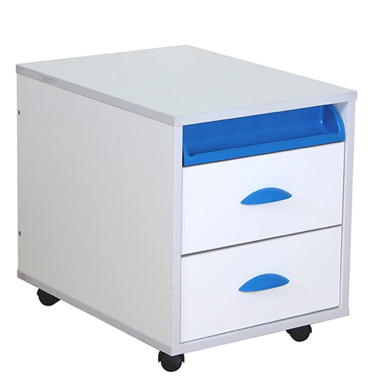 Тумба выкатная Дэми White на 2 ящика (ТУВ-01) Синий