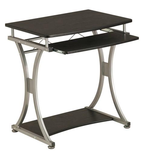 Компьютерный стол Rifforma S-328 Черный СереброКомпьютерные столы<br><br>Цвет материала: Черный; Цвет каркаса: Серебро; Бренд: RIFFORMA; Ширина (см): 70; Глубина (см): 55; Высота (см): 76;