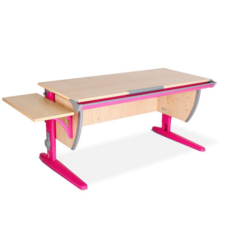 Парта Дэми СУТ-15К Клен РозовыйПарты и столы<br><br>Цвет материала: Клен; Цвет каркаса: Розовый; Бренд: Дэми; Ширина (см): 145; Глубина (см): 55; Высота (см): 53-81,5;