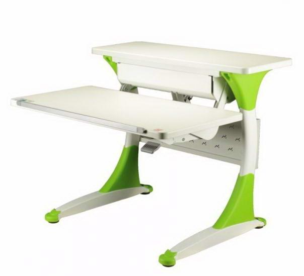 Парта-трансформер KidsMaster K-8 Quick (Квик) desk Дуб беленый ЗеленыйПарты и столы<br><br>Цвет материала: Дуб беленый; Цвет: Зеленый; Бренд: KidsMaster; Ширина (см): 93; Глубина (см): 84.5; Высота (см): 57-92;