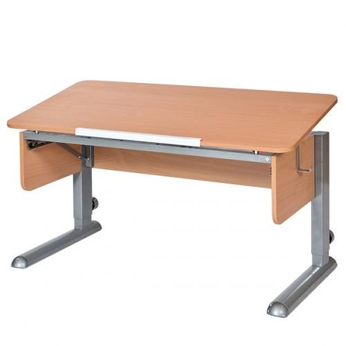 Парта Астек Моно-2 Бук СерыйПарты и столы<br><br>Цвет материала: Бук; Цвет каркаса: Серый; Бренд: Астек; Ширина (см): 115; Глубина (см): 58; Высота (см): 53-78;