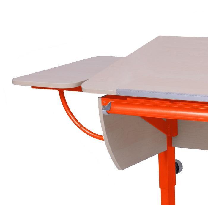 Полка боковая к партам Астек Береза ОранжевыйТумбы, стеллажи<br><br>Цвет материала: Береза; Цвет каркаса: Оранжевый; Бренд: Астек; Ширина (см): 25; Глубина (см): 58;
