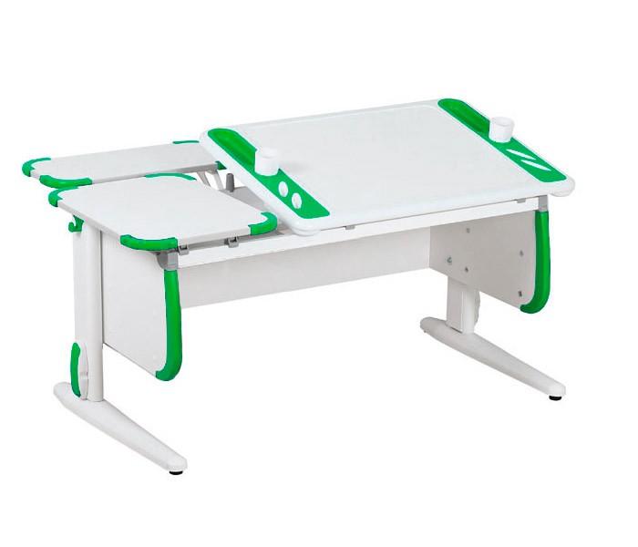 Парта Дэми White-Techno Maxi СУТ-31-01 Белый ЗеленыйПарты и столы<br><br>Цвет материала: Белый; Цвет: Зеленый; Бренд: Дэми; Ширина (см): 120; Глубина (см): 82; Высота (см): 53-81,5;