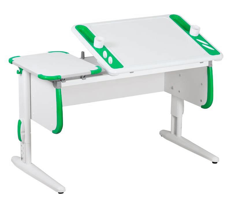 Парта Дэми White-Techno Maxi СУТ-31 Белый ЗеленыйПарты и столы<br><br>Цвет материала: Белый; Цвет: Зеленый; Бренд: Дэми; Ширина (см): 120; Глубина (см): 55; Высота (см): 53-81,5;