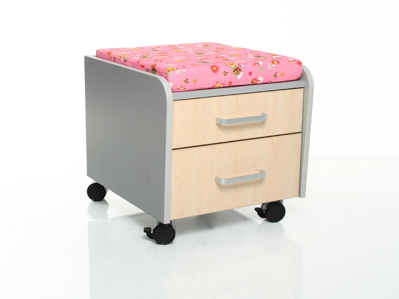 Тумбочка Comf-Pro BD-C2 с подушкой Клен Розовый с цветами
