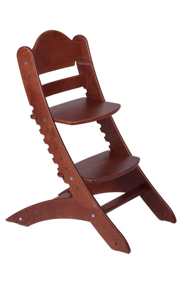 Детский растущий стул «Два кота» М1 Красное дерево
