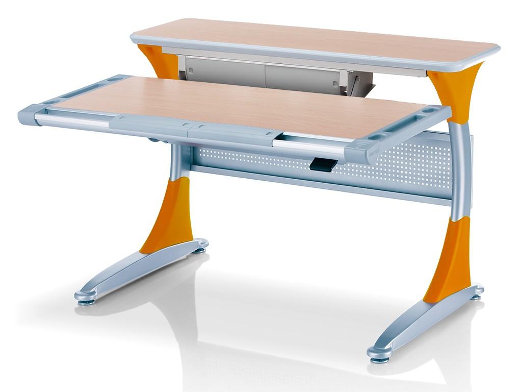 Стол Comf-Pro Harvard (Гарвард) с ящиком Клен ОранжевыйПарты и столы<br><br>Цвет материала: Клен; Цвет каркаса: Серебро; Цвет: Оранжевый; Бренд: Comf-Pro; Ширина (см): 113; Глубина (см): 83; Высота (см): 54-87;