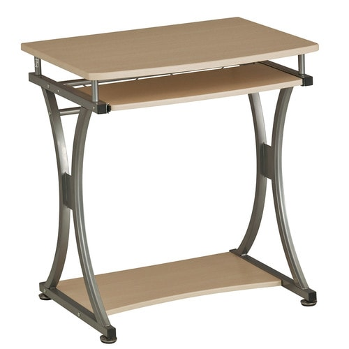 Компьютерный стол Rifforma S-328 Светлая вишня СереброКомпьютерные столы<br><br>Цвет материала: Светлая вишня; Цвет каркаса: Серебро; Бренд: RIFFORMA; Ширина (см): 70; Глубина (см): 55; Высота (см): 76;