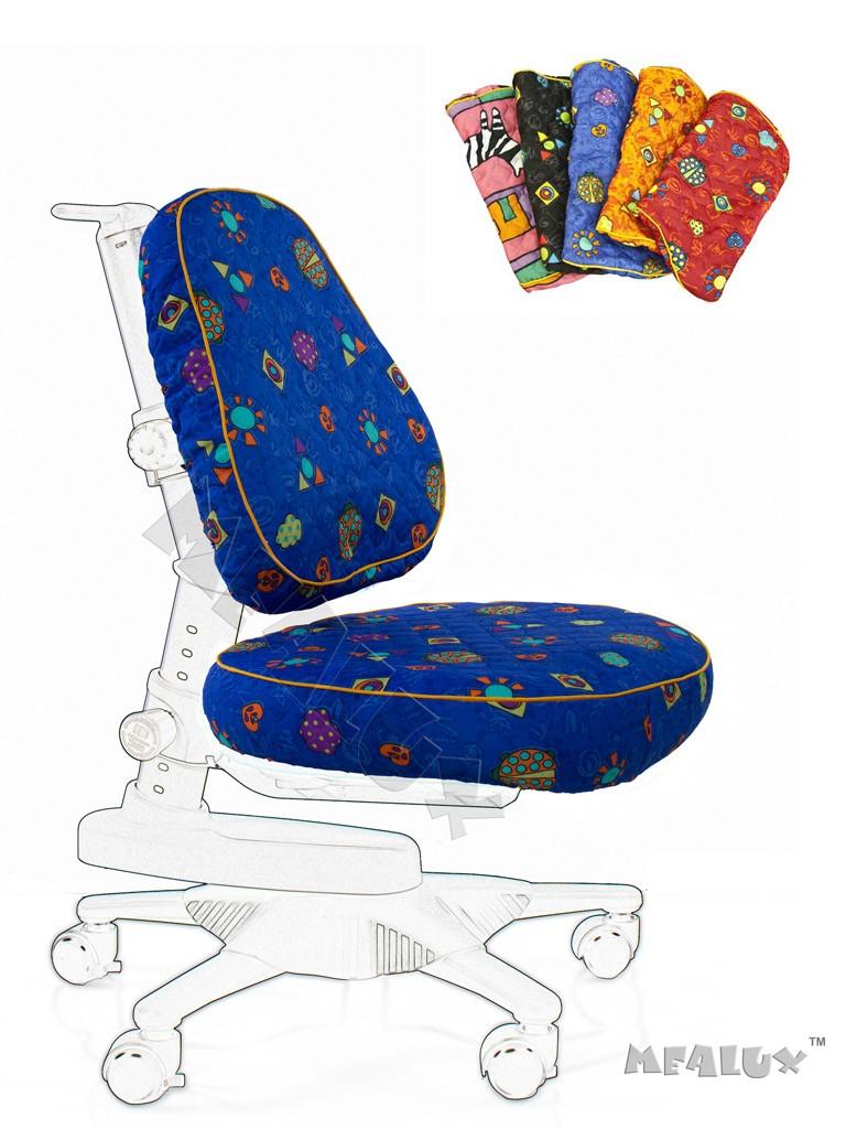 Чехол для кресла Newton Y-818 / Match Y-518 Синий с жучкамиАксессуары<br><br>Цвет обивки кресла: Синий с жучками; Бренд: Comf-Pro;