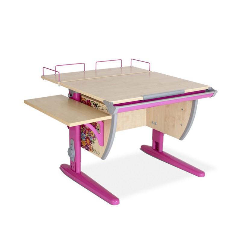 Парта Дэми СУТ-14-02 Цветы РозовыйПарты и столы<br><br>Цвет материала: Цветы; Цвет каркаса: Розовый; Бренд: Дэми; Ширина (см): 100; Глубина (см): 80; Высота (см): 53-81,5;