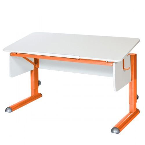 Парта Астек Моно-2 Белый ОранжевыйПарты и столы<br><br>Цвет материала: Белый; Цвет каркаса: Оранжевый; Бренд: Астек; Ширина (см): 115; Глубина (см): 58; Высота (см): 53-78;