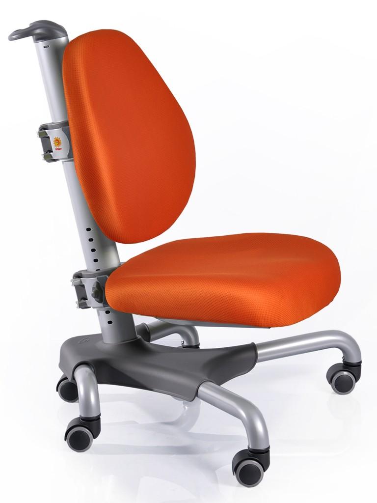 Детское кресло Mealux Y-517 Nobel Оранжевый СереброСтулья и кресла<br><br>Цвет обивки кресла: Оранжевый; Цвет каркаса: Серебро; Бренд: Mealux; Ширина (см): 53; Глубина (см): 58; Высота (см): 77;