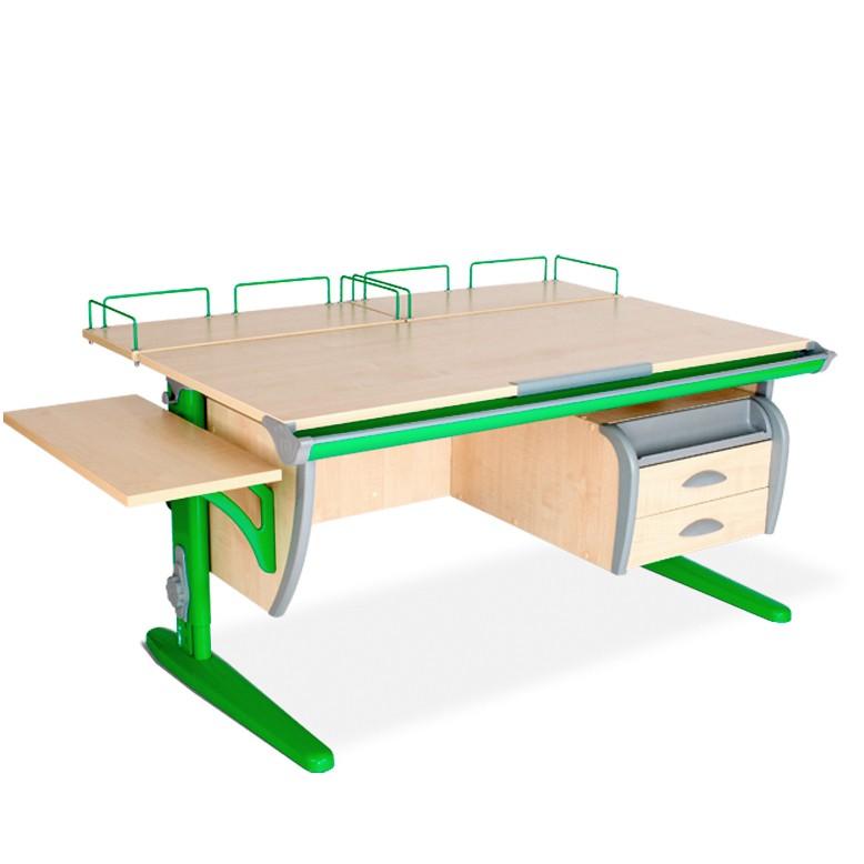 Парта Дэми СУТ-15-05 Клен ЗеленыйПарты и столы<br><br>Цвет материала: Клен; Цвет каркаса: Зеленый; Бренд: Дэми; Ширина (см): 145; Глубина (см): 80; Высота (см): 53-81,5;