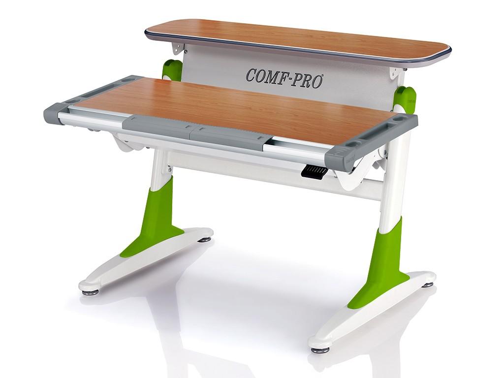 Стол Comf-Pro TH333 Coho (Кохо) Бук Светло-зеленыйПарты и столы<br><br>Цвет материала: Бук; Цвет каркаса: Белый; Цвет: Светло-зеленый; Бренд: Comf-Pro; Ширина (см): 106; Глубина (см): 76; Высота (см): 54-75;