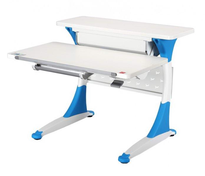 Парта-трансформер KidsMaster K-8 Quick (Квик) desk Дуб беленый ГолубойПарты и столы<br><br>Цвет материала: Дуб беленый; Цвет: Голубой; Бренд: KidsMaster; Ширина (см): 93; Глубина (см): 84.5; Высота (см): 57-92;