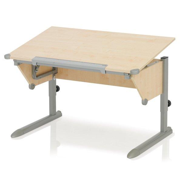 Парта Kettler Cool Top Клен СереброПарты и столы<br><br>Цвет каркаса: Серебро; Цвет ДСП: Клен; Бренд: Kettler; Ширина (см): 110; Глубина (см): 68; Высота (см): 54-83;