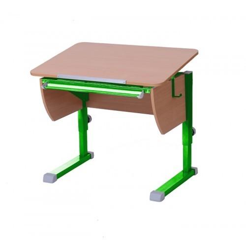 Парта Астек Колибри Бук ЗеленыйПарты и столы<br><br>Цвет материала: Бук; Цвет каркаса: Зеленый; Бренд: Астек; Ширина (см): 80; Глубина (см): 58; Высота (см): 53-78;