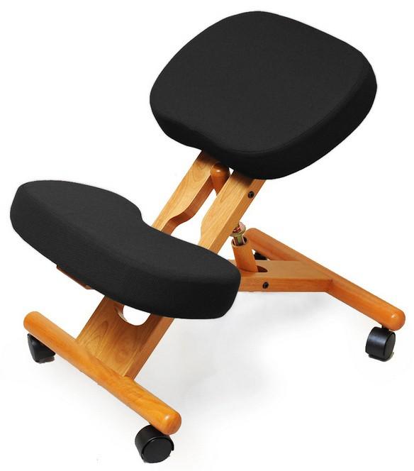Коленный стул Smartstool KW02 ЧерныйСтулья и кресла<br><br>Цвет: Черный; Бренд: SmartStool; Ширина (см): 45; Глубина (см): 65; Высота (см): 48-64;