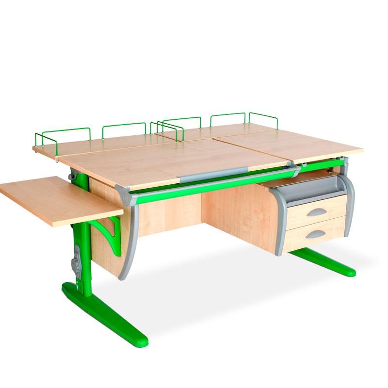 Парта Дэми СУТ-17-05 Клен ЗеленыйПарты и столы<br><br>Цвет материала: Клен; Цвет каркаса: Зеленый; Бренд: Дэми; Ширина (см): 145; Глубина (см): 80; Высота (см): 53-81,5;