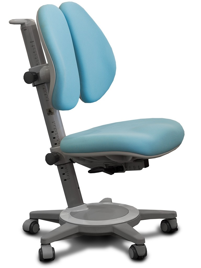 Детское кресло Mealux Y-415 Cambridge Duo Голубой СерыйСтулья и кресла<br><br>Цвет обивки кресла: Голубой; Цвет каркаса: Серый; Бренд: Mealux;