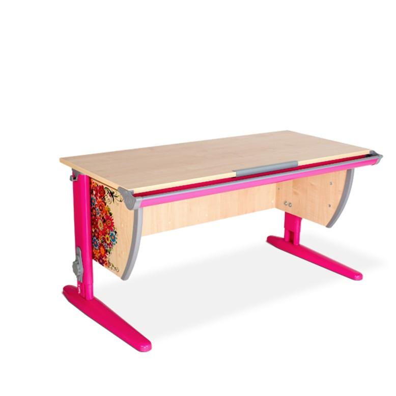 Парта Дэми СУТ-15 Цветы РозовыйПарты и столы<br><br>Цвет материала: Цветы; Цвет каркаса: Розовый; Бренд: Дэми; Ширина (см): 120; Глубина (см): 55; Высота (см): 53-81,5;