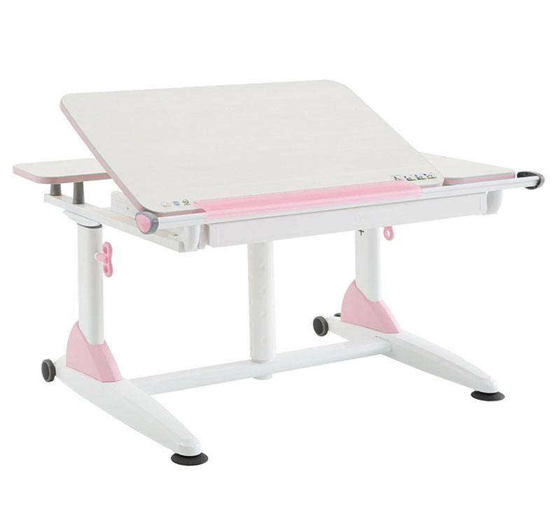 Парта TCT Nanotec Эргономик G6+XS Белый РозовыйПарты и столы<br><br>Цвет каркаса: Белый; Цвет: Розовый; Бренд: TCT Nanotec; Ширина (см): 101; Глубина (см): 76; Высота (см): 53;