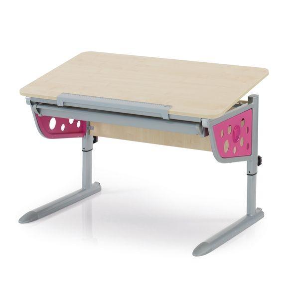Парта Kettler Logo Plus Клен РозовыйПарты и столы<br><br>Цвет: Клен; Цвет боковин: Розовый; Бренд: Kettler; Ширина (см): 110; Глубина (см): 68; Высота (см): 54-83;