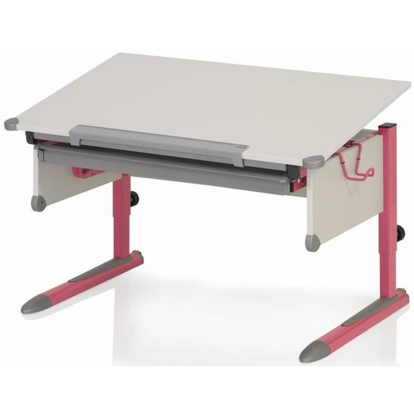 Парта Kettler College Box Белый РозовыйПарты Kettler<br><br>Цвет каркаса: Розовый; Цвет ДСП: Белый; Бренд: Kettler; Ширина (см): 110; Глубина (см): 68; Высота (см): 54-83;