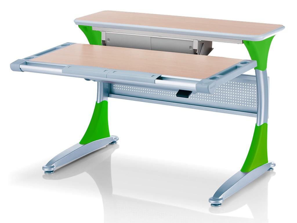 Стол Comf-Pro Harvard (Гарвард) с ящиком Клен Светло-зеленыйПарты и столы<br><br>Цвет материала: Клен; Цвет каркаса: Серебро; Цвет: Светло-зеленый; Бренд: Comf-Pro; Ширина (см): 113; Глубина (см): 83; Высота (см): 54-87;