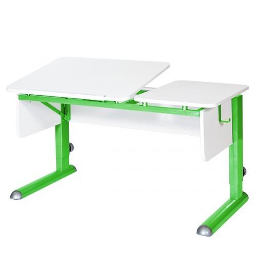 Парта Астек Твин-2 Белый ЗеленыйПарты и столы<br><br>Цвет материала: Белый; Цвет каркаса: Зеленый; Бренд: Астек; Ширина (см): 115; Глубина (см): 58; Высота (см): 53-78;