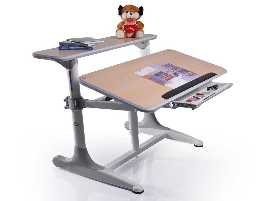 Детский стол Mealux Shubert Клен СерыйПарты и столы<br><br>Цвет материала: Клен; Цвет каркаса: Серый; Бренд: Mealux; Ширина (см): 110; Глубина (см): 79; Высота (см): 50-75;
