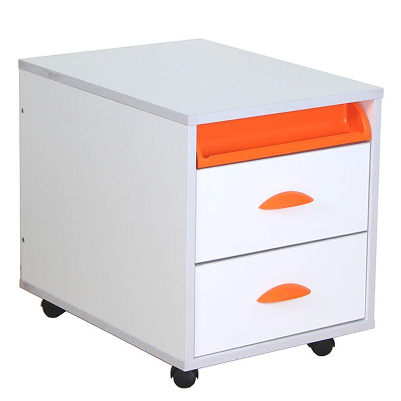Тумба выкатная Дэми White на 2 ящика (ТУВ-01) ОранжевыйТумбы, стеллажи<br><br>Цвет: Оранжевый; Бренд: Дэми; Ширина (см): 42,6; Глубина (см): 57; Высота (см): 45,2;