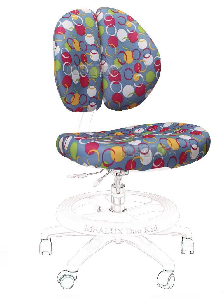 Чехол для кресла Duo-Kid Y-616 Синий с кольцамиАксессуары<br><br>Цвет обивки кресла: Синий с кольцами; Бренд: Mealux;