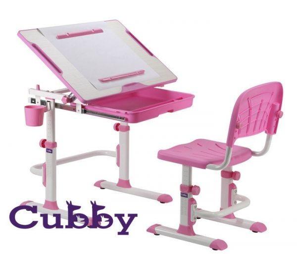 Растущая детская парта со стульчиком Cubby Karo РозовыйПарты и столы<br><br>Цвет: Розовый; Бренд: Cubby; Ширина (см): 68,8; Глубина (см): 48; Высота (см): 52,5-74,5;