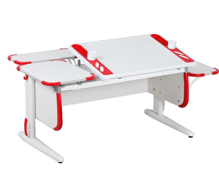 Парта Дэми White-Techno Maxi СУТ-31-02 Белый КрасныйПарты и столы<br><br>Цвет материала: Белый; Цвет: Красный; Бренд: Дэми; Ширина (см): 145; Глубина (см): 82; Высота (см): 53-81,5;
