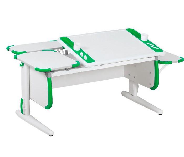 Парта Дэми White-Techno Maxi СУТ-31-02 Белый ЗеленыйПарты и столы<br><br>Цвет материала: Белый; Цвет: Зеленый; Бренд: Дэми; Ширина (см): 145; Глубина (см): 82; Высота (см): 53-81,5;