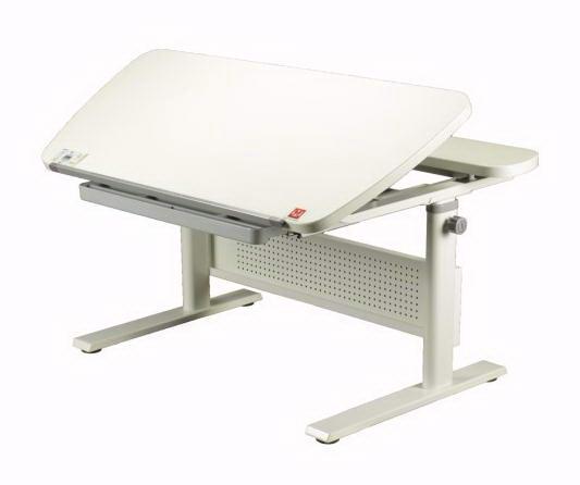 Парта-трансформер KidsMaster K-5 Unique (Юник) desk Дуб беленый СерыйПарты и столы<br><br>Цвет материала: Дуб беленый; Цвет: Серый; Бренд: KidsMaster; Ширина (см): 105; Глубина (см): 70; Высота (см): 54-79;