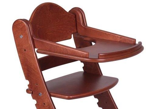 """Столик для детского растущего стула """"Два Кота"""" Красное дерево"""