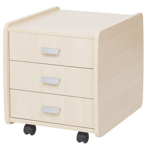 Тумба Астек 3 ящика с цветными фасадами Береза БерезаТумбы, стеллажи<br><br>Цвет материала: Береза; Цвет: Береза; Бренд: Астек; Ширина (см): 40; Глубина (см): 47,5; Высота (см): 45;