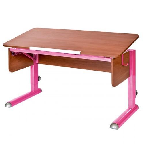 Парта Астек Моно-2 Яблоня РозовыйПарты и столы<br><br>Цвет материала: Яблоня; Цвет каркаса: Розовый; Бренд: Астек; Ширина (см): 115; Глубина (см): 58; Высота (см): 53-78;