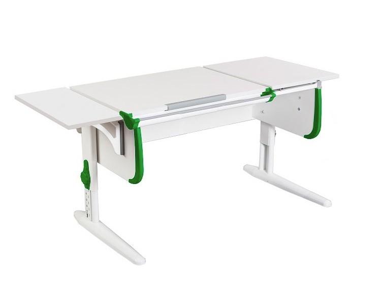 Парта Дэми СУТ-25К White Double Белый ЗеленыйПарты и столы<br><br>Цвет материала: Белый; Цвет каркаса: Белый; Цвет: Зеленый; Бренд: Дэми; Ширина (см): 145; Глубина (см): 55; Высота (см): 53-81,5;