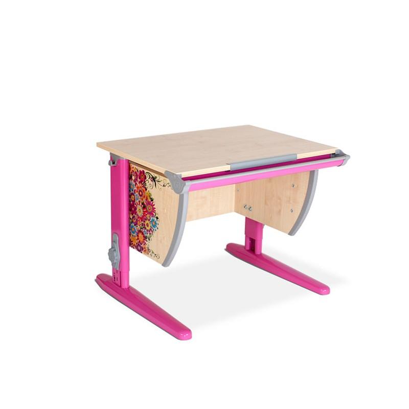 Парта Дэми СУТ-14 Цветы РозовыйПарты и столы<br><br>Цвет материала: Цветы; Цвет каркаса: Розовый; Бренд: Дэми; Ширина (см): 75; Глубина (см): 55; Высота (см): 53-81,5;