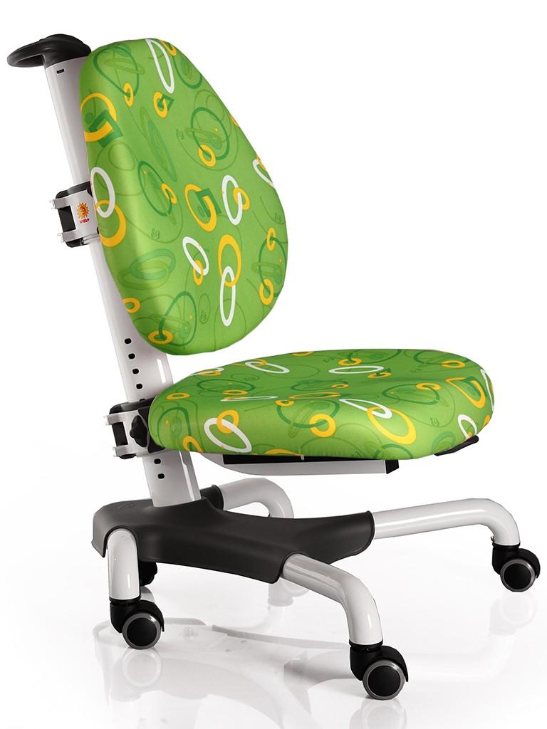 Детское кресло Mealux Y-517 Nobel Зеленый с кольцами БелыйСтулья и кресла<br><br>Цвет обивки кресла: Зеленый с кольцами; Цвет каркаса: Серебро; Бренд: Mealux; Ширина (см): 53; Глубина (см): 58; Высота (см): 77;