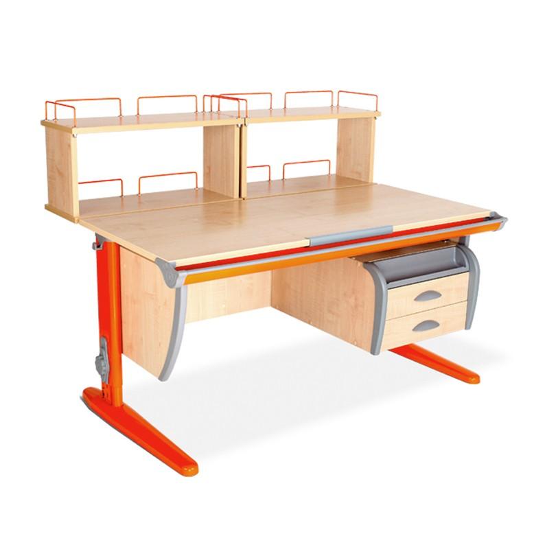 Парта Дэми СУТ-15-04Д2 Клен ОранжевыйПарты и столы<br><br>Цвет материала: Клен; Цвет каркаса: Оранжевый; Бренд: Дэми; Ширина (см): 120; Глубина (см): 80; Высота (см): 53-81,5;