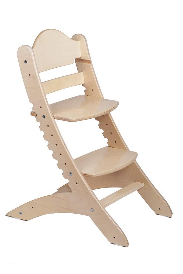 Детский растущий стул «Два кота» М1 Беленый дуб