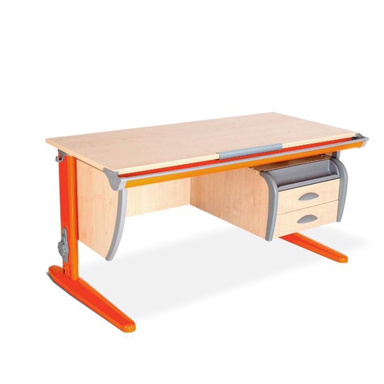 Парта Дэми СУТ-15-03 Клен ОранжевыйПарты и столы<br><br>Цвет материала: Клен; Цвет каркаса: Оранжевый; Бренд: Дэми; Ширина (см): 120; Глубина (см): 55; Высота (см): 53-81,5;