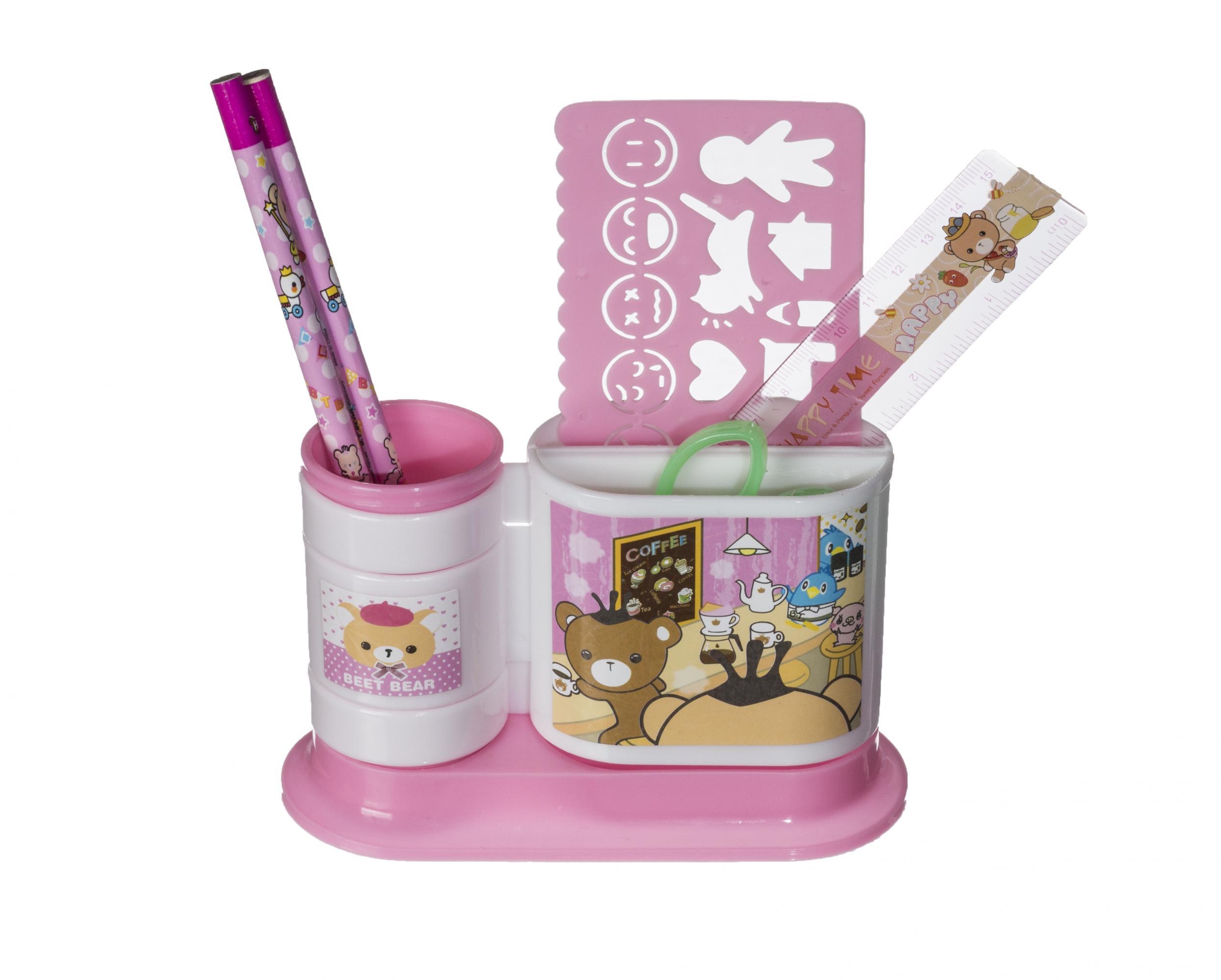 Набор канцтоваров подарочный EVO РозовыйАксессуары<br><br>Цвет: Розовый; Бренд: Mealux;